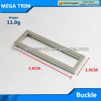 58mm*19mm silver square metal belt buckle