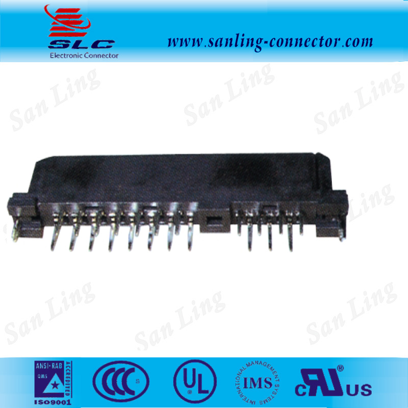 sata 22Pin female straight dip dual row SATA connector with phosphor