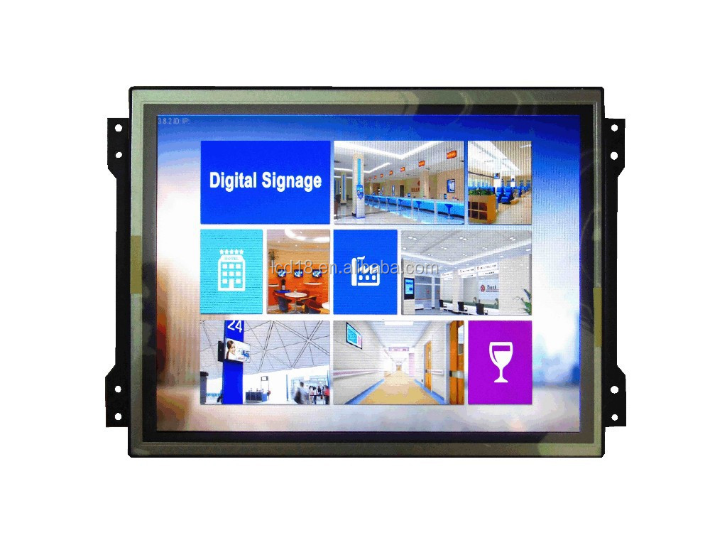12.1 inch frameless lcd monitor for industrial use