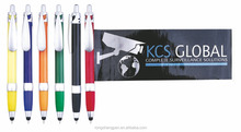 Pulling out calendar hotel advertising Banner Stylus pens Flag pen flyer pen