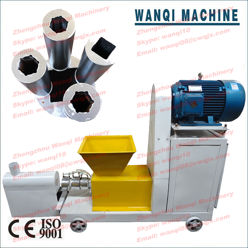 Wanqi ZBJ-7 charcoal powder briquette machine bamboo stick making machine coal dust briquette machine