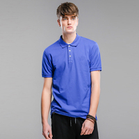 Promotional classic logo short sleeve blue cotton mens polo shirts in miami