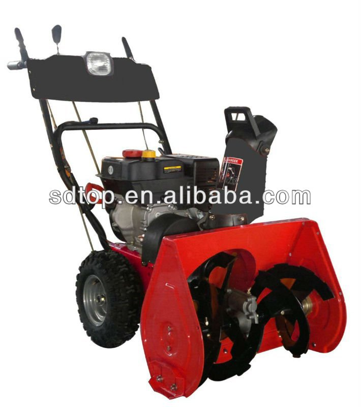 easy operation gasoline engine snow thrower