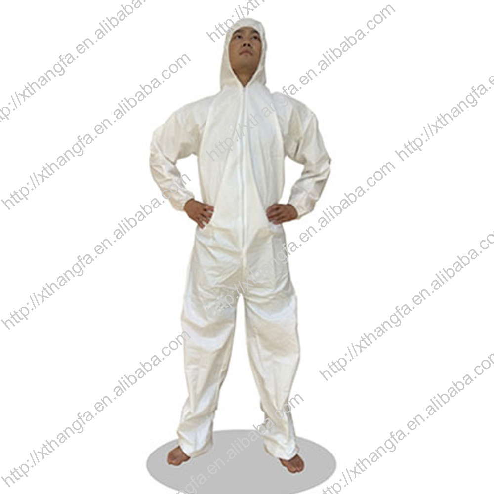 WATERPROOF AND BREATHABLE MICROPOROUS ANTISTATIC COVERALL