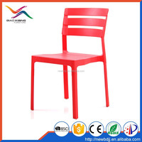 Modern Restaurant And Bar Use Plastic Stackable Chair For Outdoor
