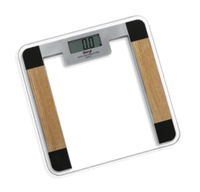 Mini floor stand 6mm glass platform weighting digital bathroom scale/Thin Design Tempered Glass Bathroom Digital Weight scale