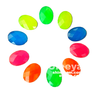 High quality Candy color oval shape 13*18mm sew on flat back rhinestones.Extremely beautiful acrylic resin stone for jeans