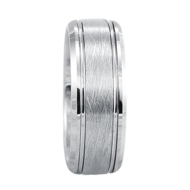 Silver brushed center best selling products titanium wedding bands for men