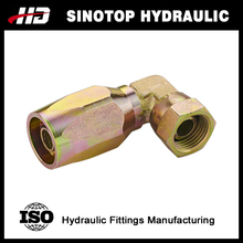 Hydraulic female reusable swivel hose end fitting