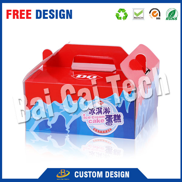 manufacturer shenzhen recycled folding foil 3d hologram color brown kraft packaging paper box