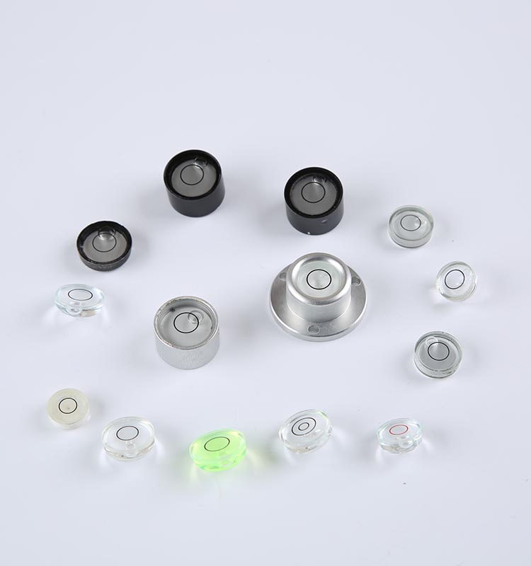 high sensitivity glass circular bubble level vials with one/two/three circles