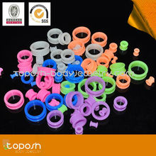 2013 Newest Silicone glow in the dark Ear Plugs Tapers Expanders Stretcher 8 colors Sizes 2mm-25mm