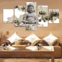 5 piece canvas tarpaulin for buddha oil painting on canvas
