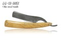 Damascus Steel Straight Razor Olive Wood Handle