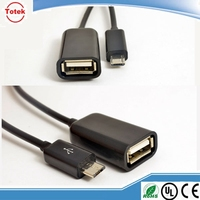 china wholesale black color micro usb otg cable