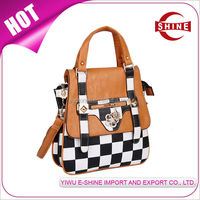 Professional Manufacturer Party White-Black Color Blocking Crossing ladies PU small handbag