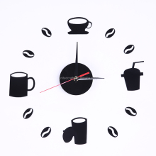DIY custom acrylic decorative tea and coffee wall clock
