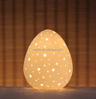 Egg Indoor Ceramic Decorative Beside Small Oil Lamps