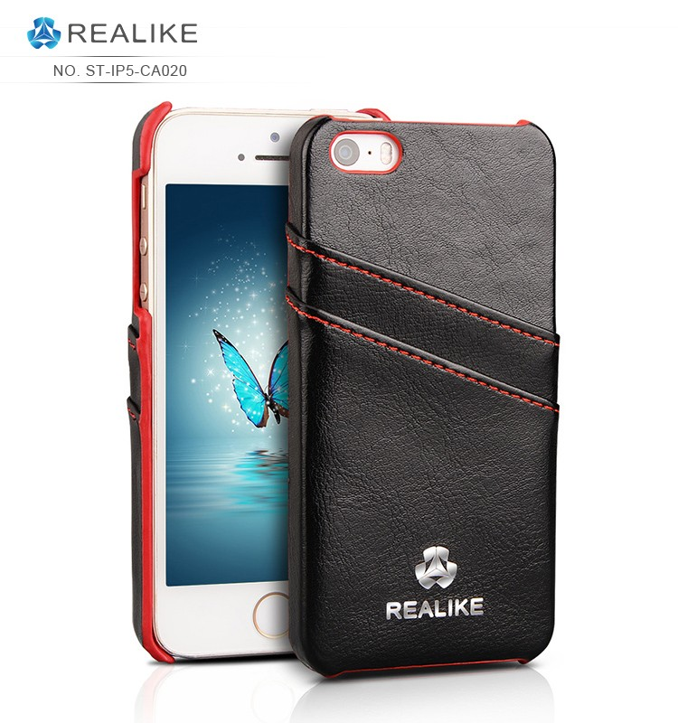 Unique design pc hybrid leather phone case for iphone 5/se