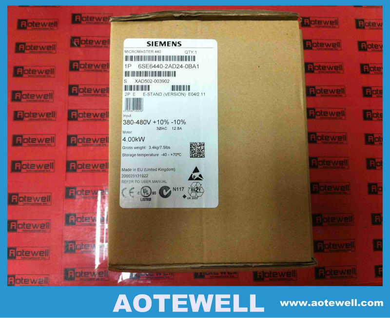 Siemens AC Driver MICROMASTER440 6SE6440-2AD24-0BA1