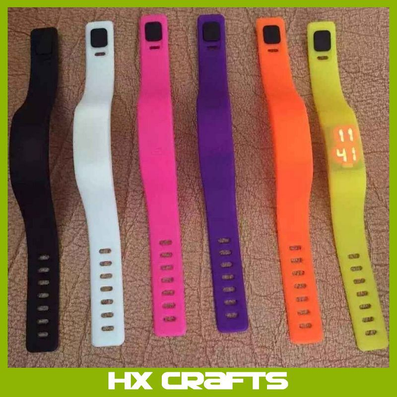 Men Women Rubber Silicone LED Strap Watch Sport Bracelet Digital Wrist watches