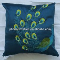 Embellished polyester peacock embroidery designs