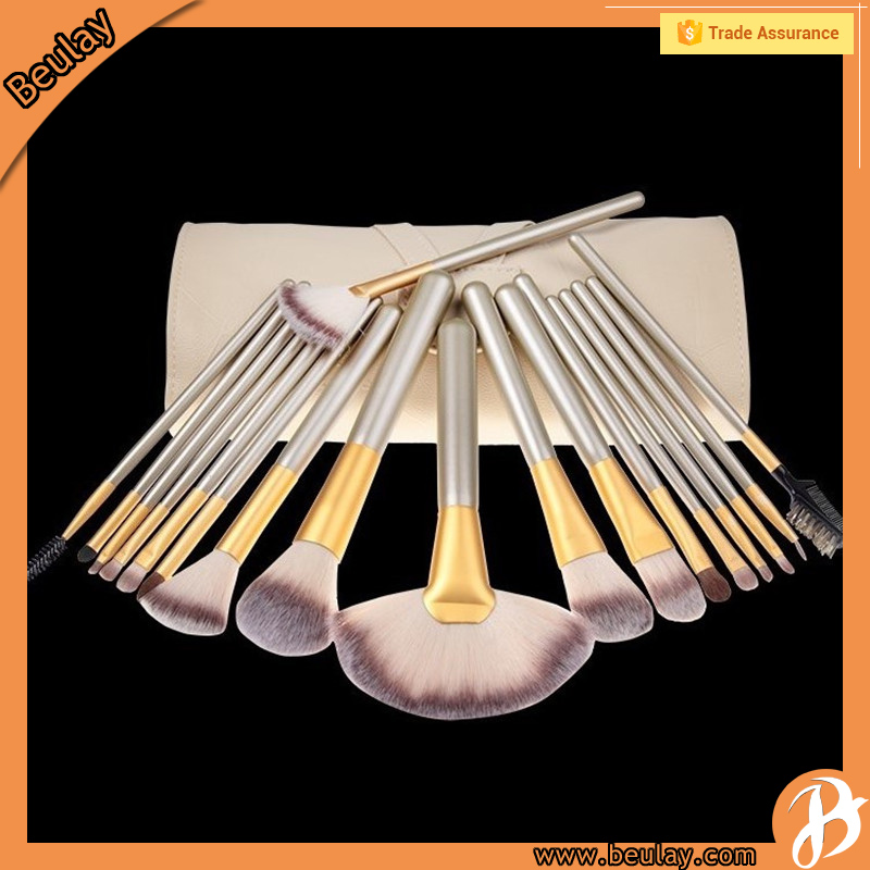 18Piece Makeup Eyebrow Brushes Set With High Quality Professional Bag