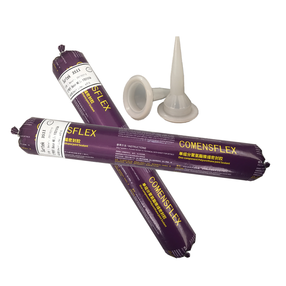 Plywood and fiberglass joint sealing one component polyurethane adhesive
