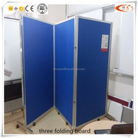 school office use double side drawing board three folding board with mobile stand