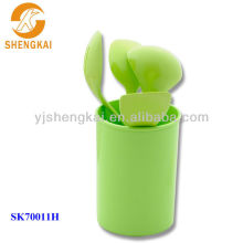5pcs green quality plastic name of the kitchen tools for dinning
