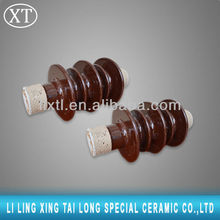 Solid core railway overhead line long rod porcelain insulator for high voltage