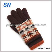 hot fashion knitted handmade cheap wool winter thick custom knitted string knit mittens