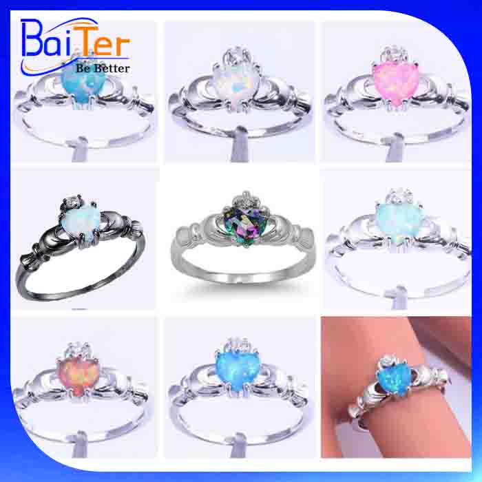 Wholesale All Kinds Fashion 925 Sterling Silver Claddagh Ring