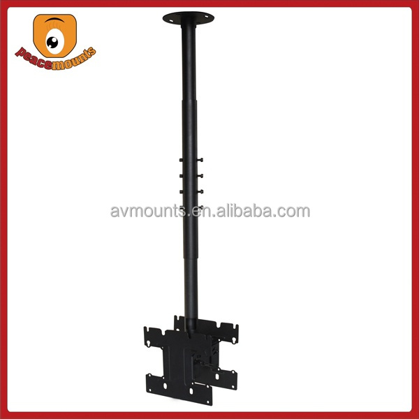 "Supports 24""-37"" TV and Load capacity up to 80lbs back to back ceiling fixing tv lift swivel for multi-monitor displays"