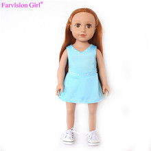 "Farvision Girl dolls wholesale vinyl craft dolls 18"" doll sample"