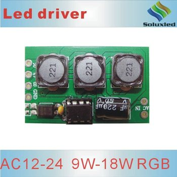 24V 12V 3w/6w RGB led driver constant current 300mA