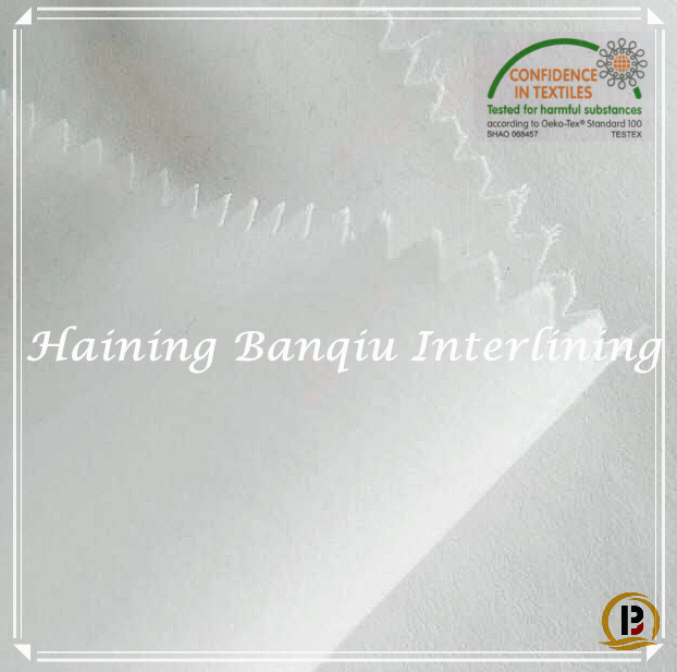 Good material cotton/polyester woven resin interlining,fusing interfacing fabric for coat,collar,cuff (#8011S)