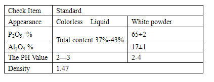 White powder Colorless Liquid aluminum tris(dihydrogen phosphate)