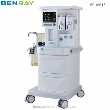 BR-AM13 12.1'' Touch Screen low pressure leak test anesthesia machine scavenging system anesthesia machine
