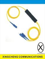 FBT Type 2 Way SC / UPC Optical Fiber Splitter Data Communication