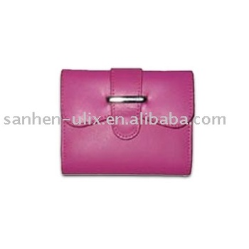 Coin Purse with Magnetic Button, Made of PVC or PU or Leather, Measures 4-1/4 x 3-3/4 Inches