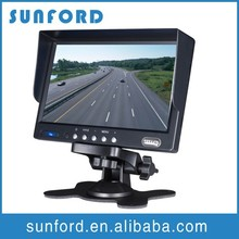 Vehicle Super 7 inches TFT car LCD monitor with hdmi input