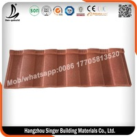 High quality stone coated steel roofing tile price/ roman sand stone coated metal