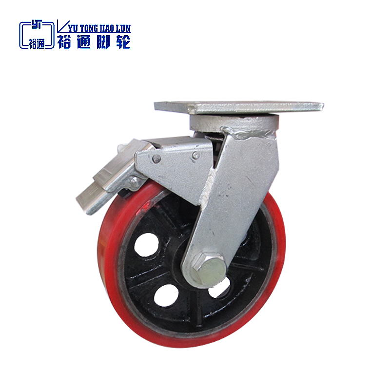 10'' red pu caster wheel tire