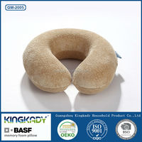 2015 new Fashion Shape Memory Foam neck pillow Cushion and car pillow,toddler pillow cotton