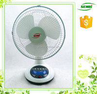 charging table fan 12 inch small rechargeable table fan with led light