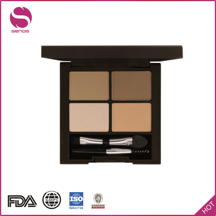 Senos Factories Wenzhou Manufacture No Label Makeup Eyebrow Power With Brush Eyebrow Powder