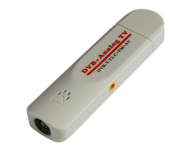 Portable analog digital dvb-t/dvb-t2 usb dongle with FM radio