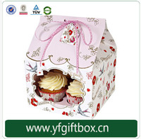 Alibaba China Trade Assurance 100% Quality Papaer Cupcake Packaging Box Cheap Mini Cake Box Wholesale Custom Cupcake box