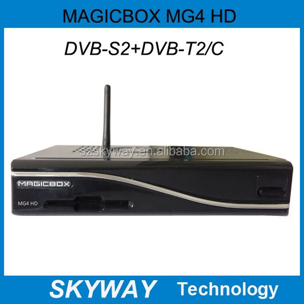 DVB s2/t2/c tuner MAGICBOX MG4 HD 300M wifi Satellite Tv Receiver magicbox mg4 hd decoder